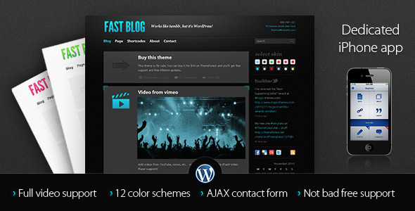 ThemeForest Fast Blog 145138