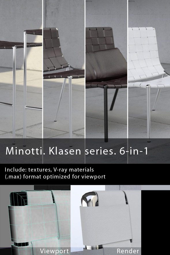 Minotti. Klasen series. 6-in-1 - 3DOcean Item for Sale