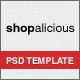Shopalicious - Shopping PSD Template - ThemeForest Item for Sale