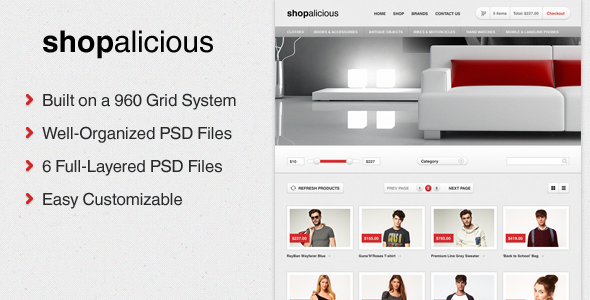 Shopalicious - Shopping PSD Template
