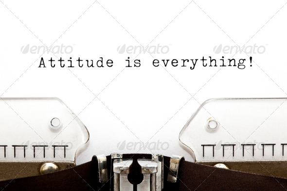 Typewriter Attitude is Everything - Stock Photo - Images