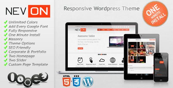 Nevon - A New Responsive Business and Portfolio WordPress Premium Theme