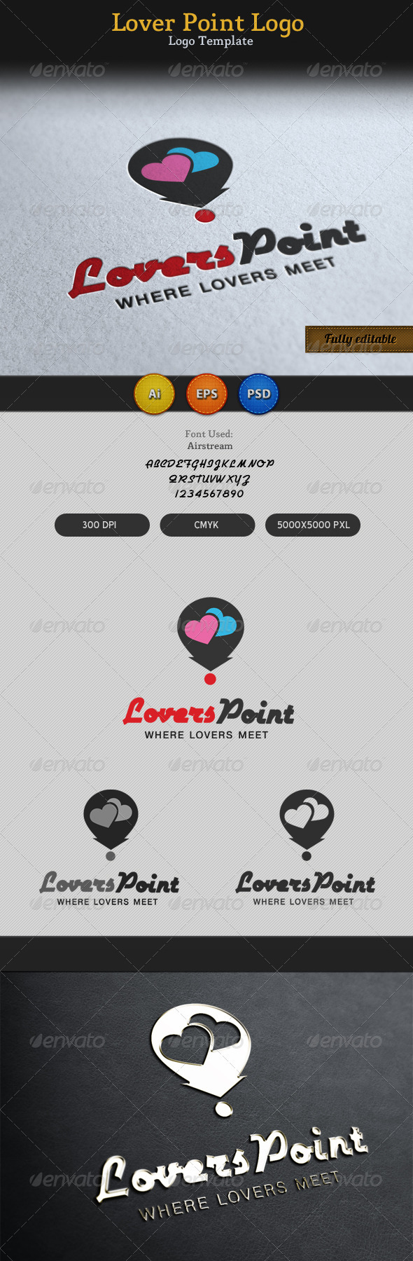 GraphicRiver Lovers Point Locator Logo 3256683