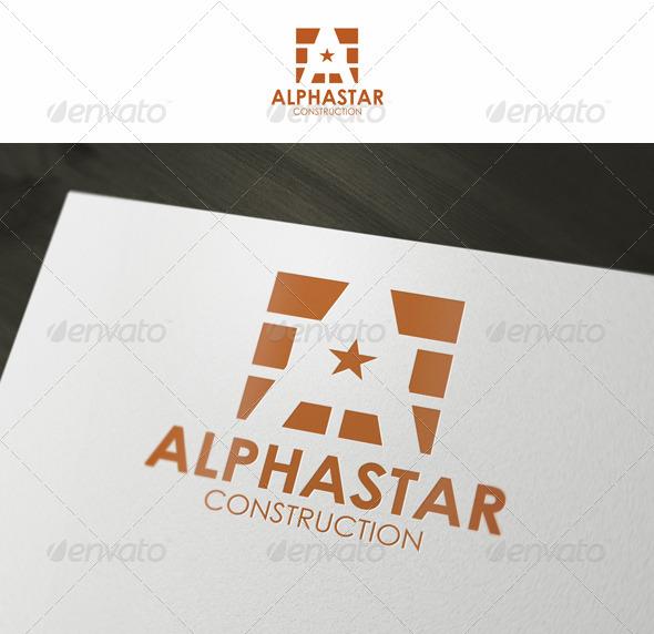 Alphastar Architect Construction Logo - Buildings Logo Templates