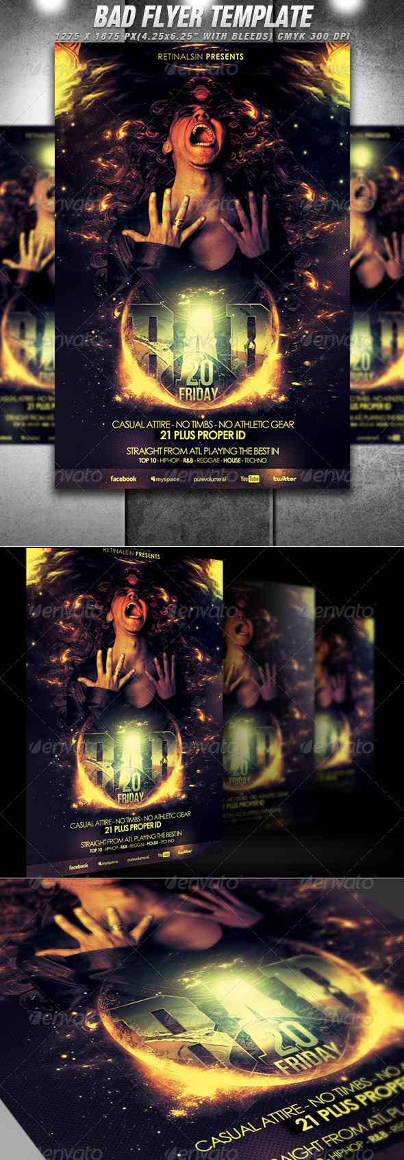 Bad Flyer Template - Flyers Print Templates