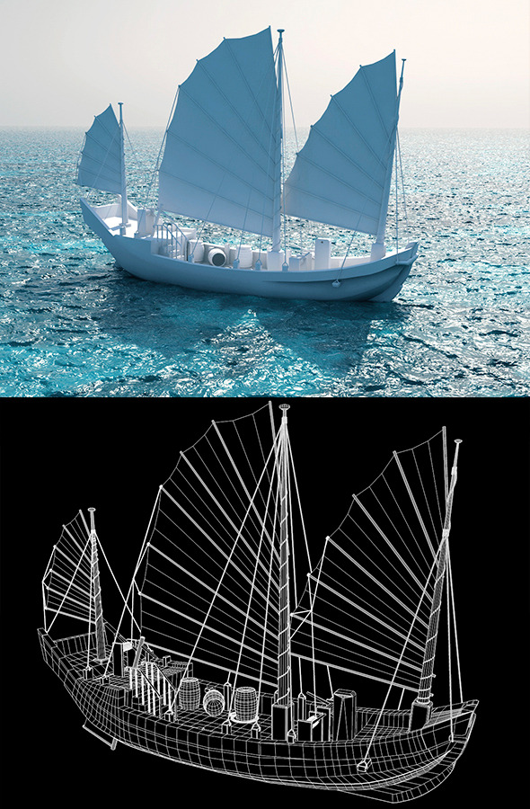 3DOcean Chinese junk ship 3256912