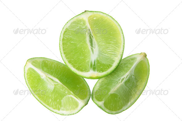 Slices of Lime - Stock Photo - Images