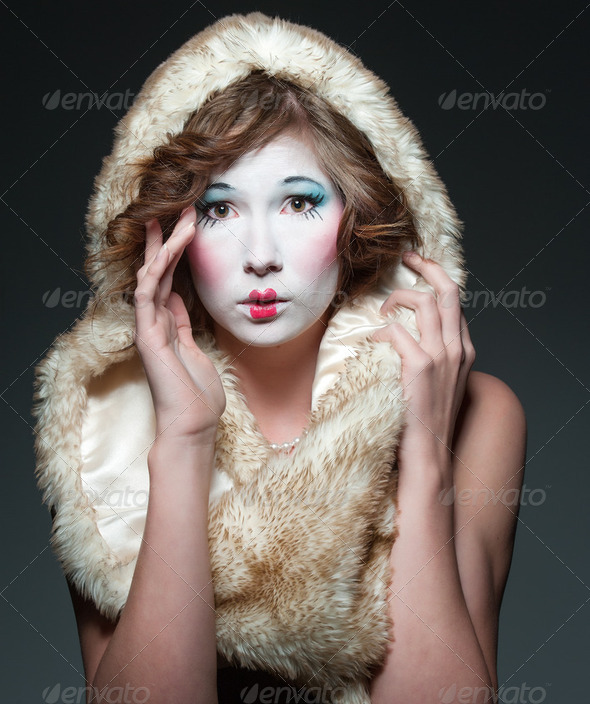 porcelain girl - Stock Photo - Images