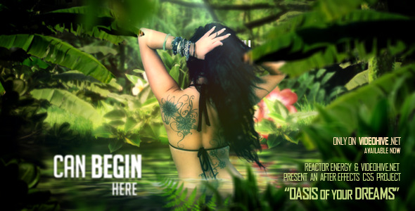 After Effects Project - VideoHive Oasis Of Your Dreams 3257248