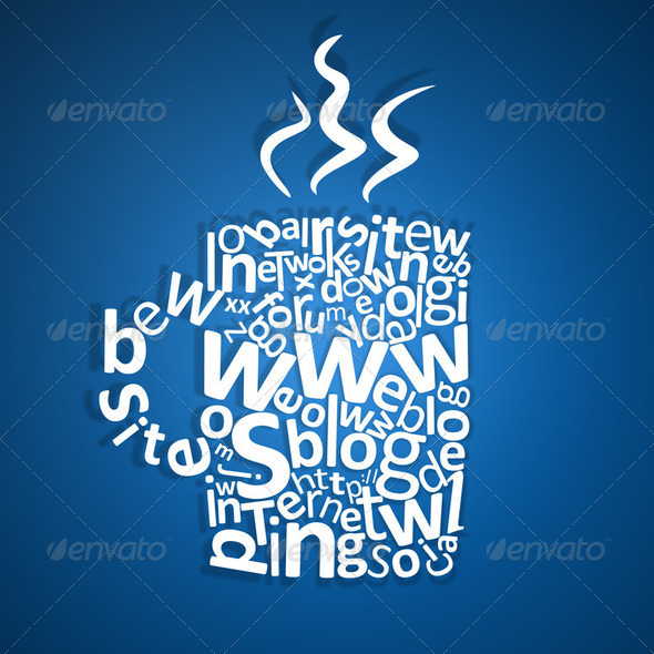 Web site coffee mug concept - Stock Photo - Images