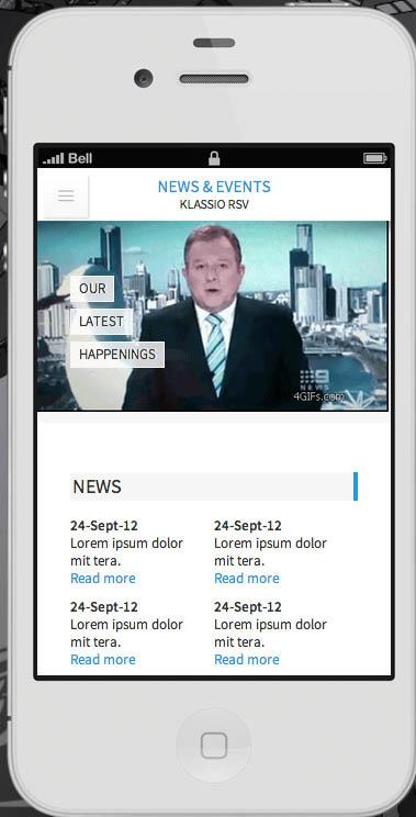 Klassio RSV   Responsive Mobile Template