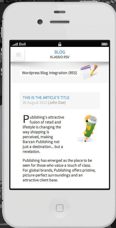 Klassio RSV | Responsive Mobile Template