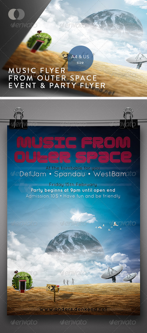 GraphicRiver Music & Event Flyer Flyer from outer Space 157800