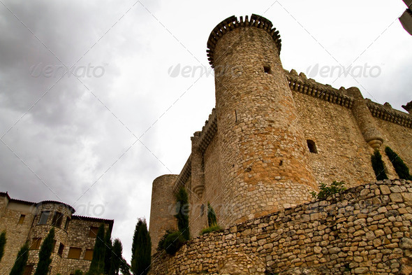 Torija´s Castle in Spain , defense tower - Stock Photo - Images