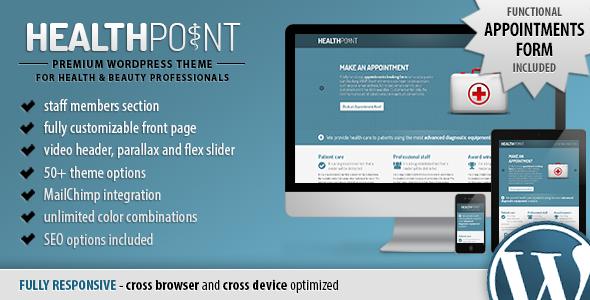 Health Point - Responsive WordPress Landing Page
