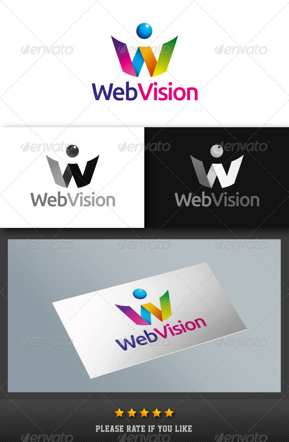 Web Vision Logo - Letters Logo Templates