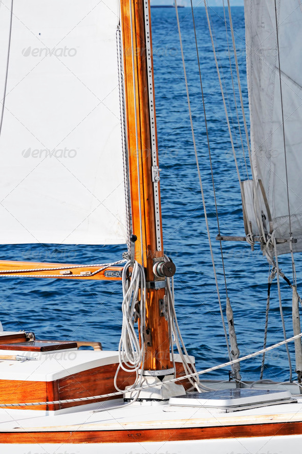 Sailboat detail - Stock Photo - Images