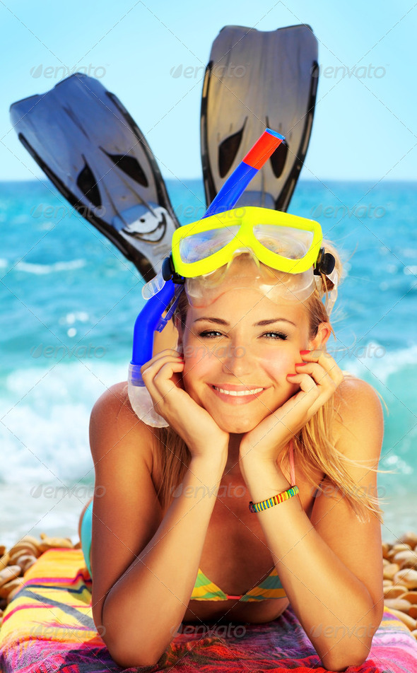 Summer fun on the beach - Stock Photo - Images