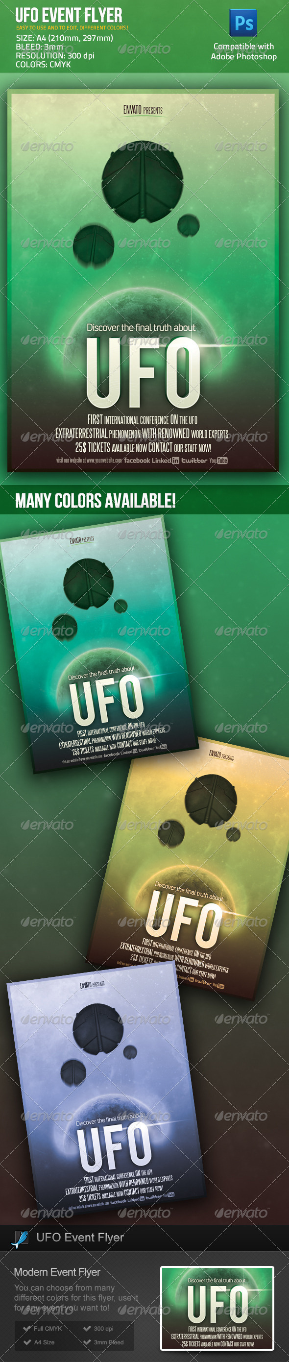 UFO Event / Sci Fi Movie Poster Flyer