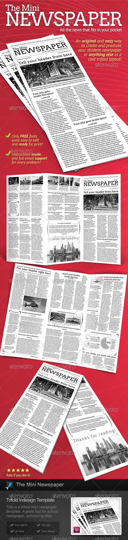 GraphicRiver Mini Newspaper Trifold Template 2730925
