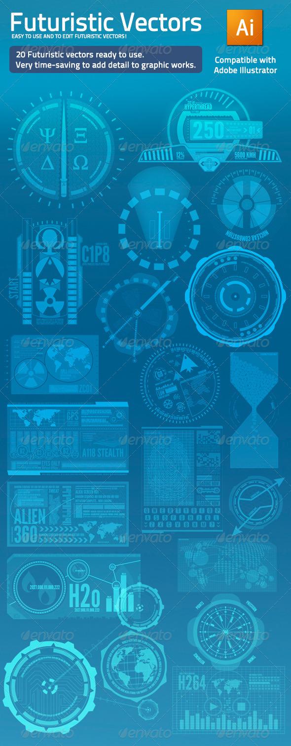 Futuristic Vectors - 20 Elements - Miscellaneous Conceptual