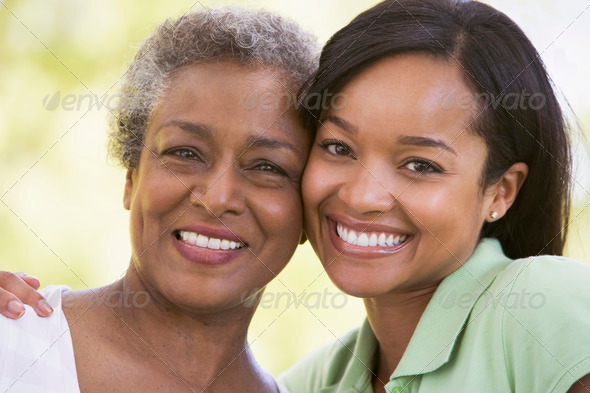 Stock Photo - PhotoDune Two women outdoors smiling 337834