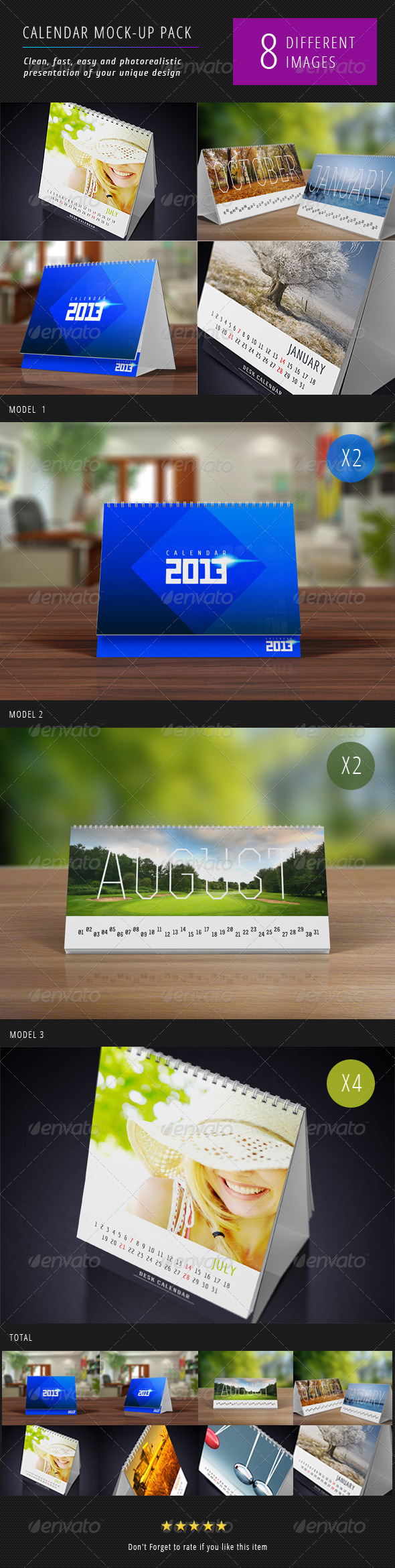 Desk Calendars Mock-Up - Miscellaneous Print