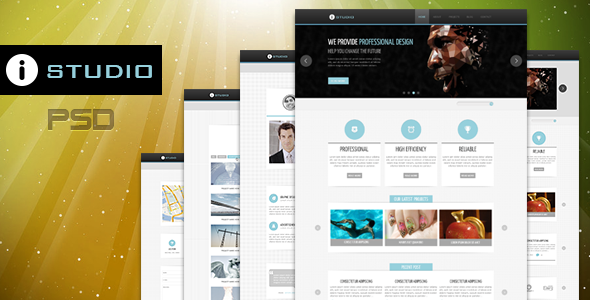 ThemeForest IStudio-PSD Template 3242842