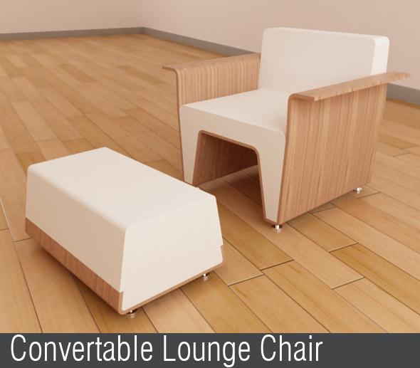 3DOcean Convertable Lounge Chair 114815