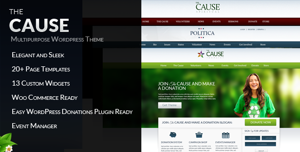 ThemeForest The Cause Non-Profit WordPress Theme 3239172