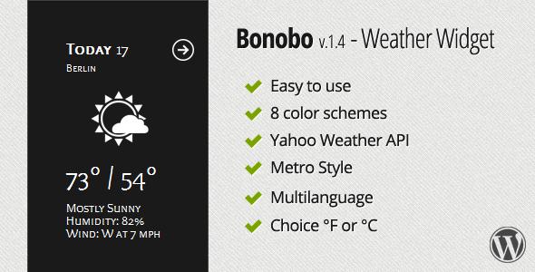 CodeCanyon Bonobo Weather Widget 2530879