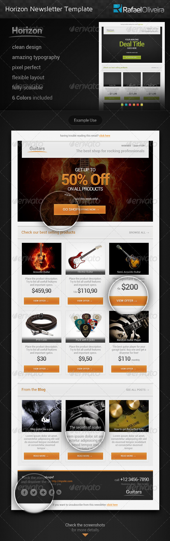 GraphicRiver Horizon Newsletter Template 3260686