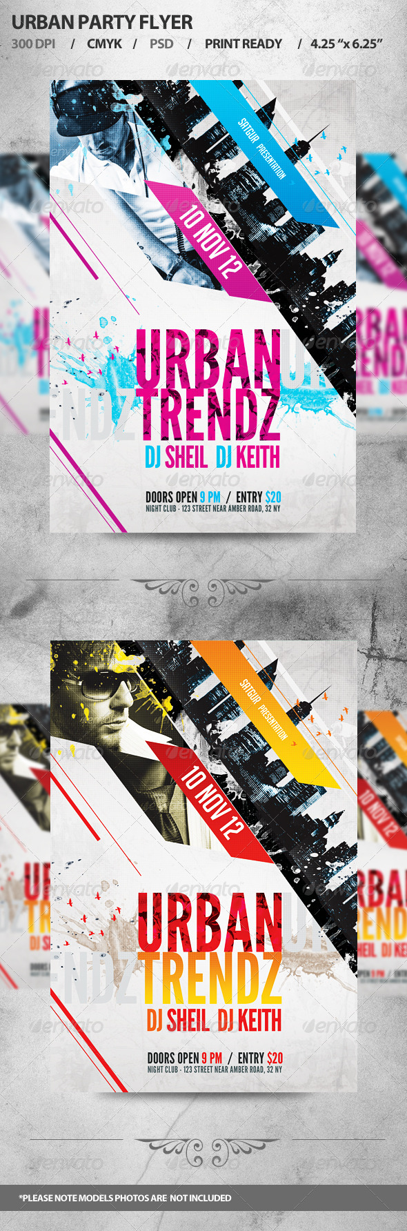 GraphicRiver Urban Party Flyer 3239603
