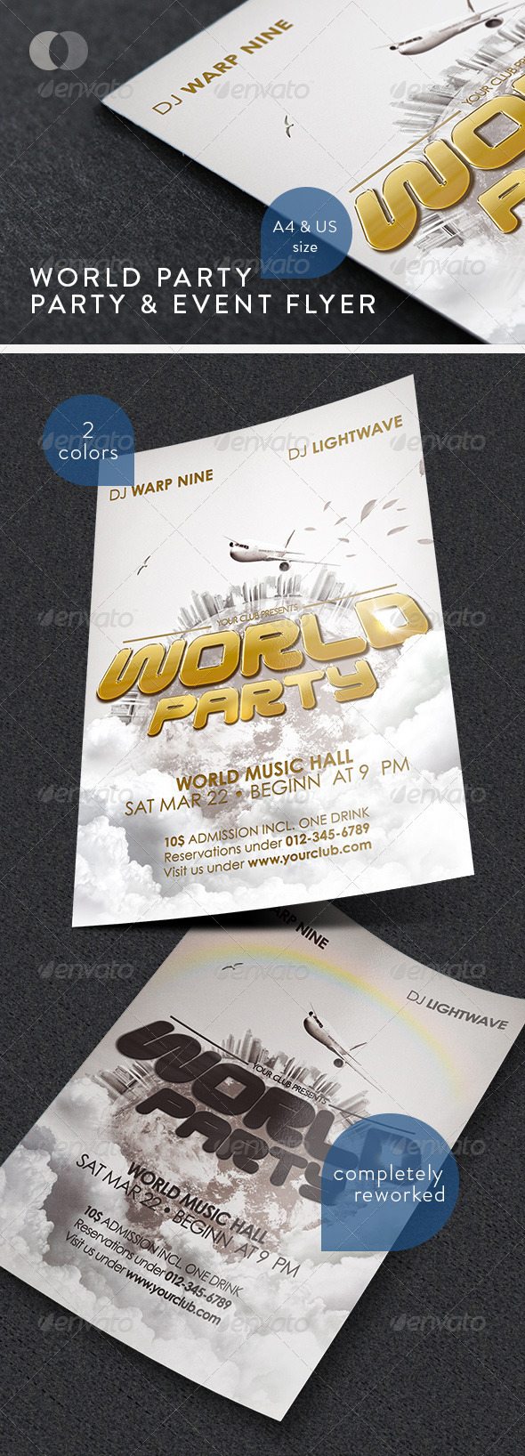 GraphicRiver Music & Event Flyer World Party 163201