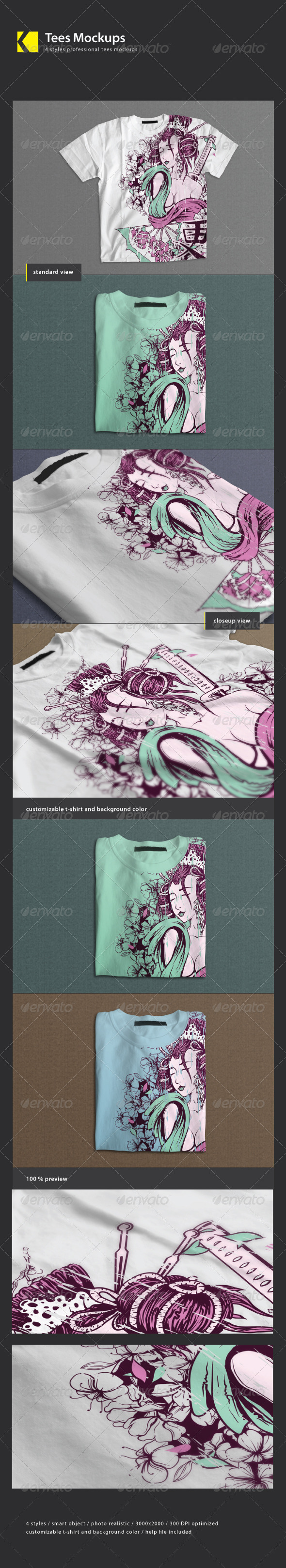 GraphicRiver Tees Mock-Ups 3261090