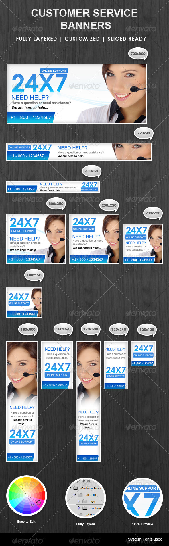 GraphicRiver Customer Support Banner 3261113
