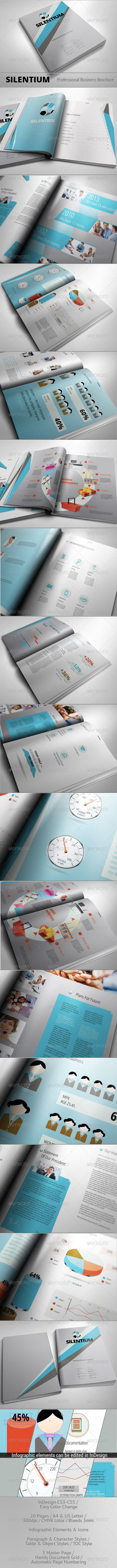 GraphicRiver SILENTIUM Modern Business Brochure 3261115
