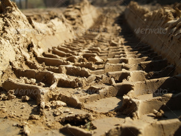Tire tracks - Stock Photo - Images