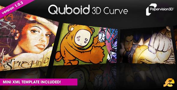 ActiveDen Quboid 3D Curve Media Viewer 79024