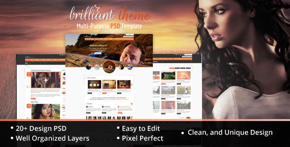 Brilliant Theme Creative Unique PSD Theme