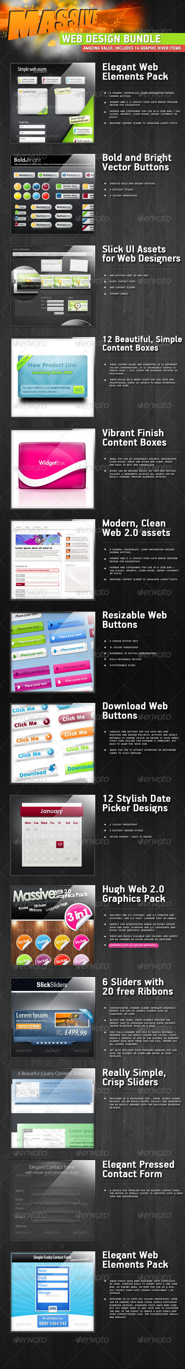 GraphicRiver The Big Web Designers Asset Pack 240490