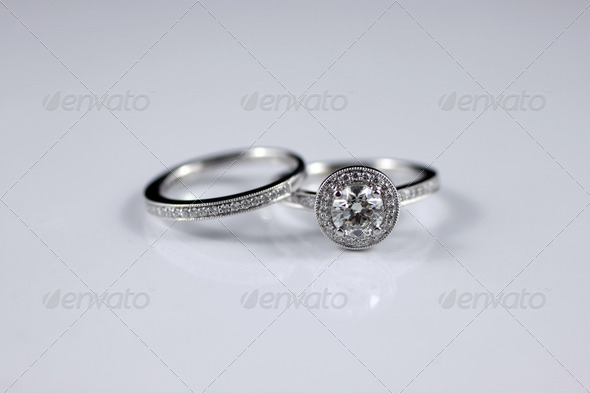 Diamond Wedding Band - Stock Photo - Images