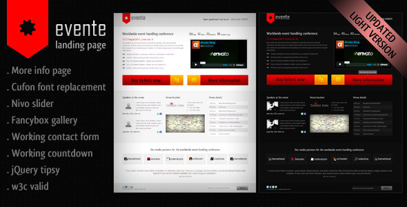 ThemeForest Evente Landing Page 335442