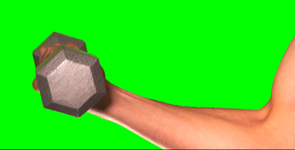 Muscle Exercises On Green Screen