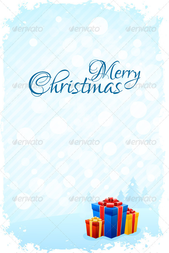 Grungy Christmas Greeting Card - Christmas Seasons/Holidays