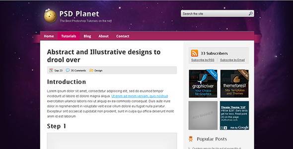 PSD Planet WP