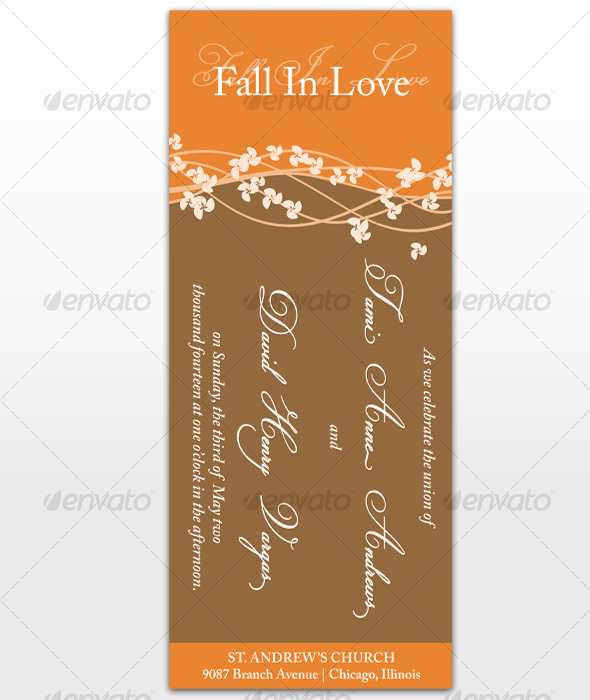 GraphicRiver Fall In Love Wedding Cards 113512