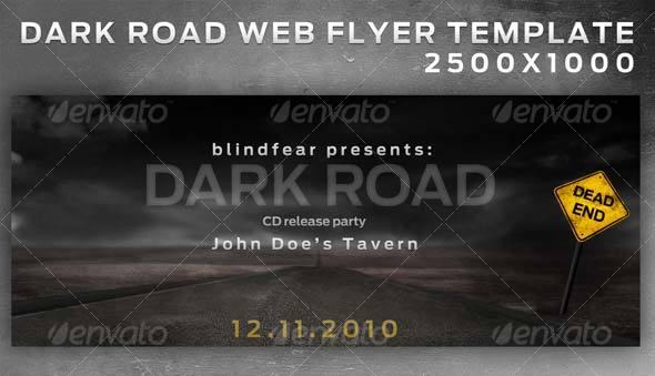 Dark Road Web Flyer Layered