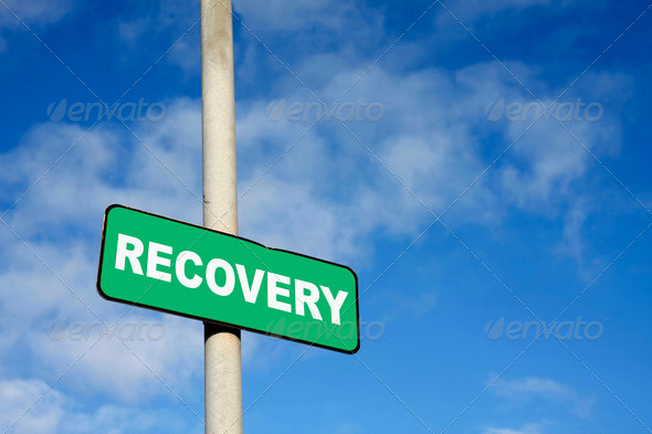 Green recovery sign - Stock Photo - Images