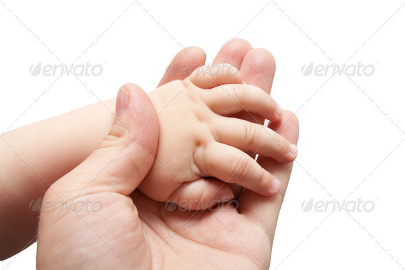 Father's and baby's hands - Stock Photo - Images